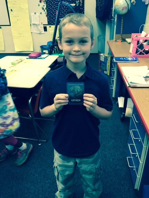 Rhett with Sleepy Hollow Card
