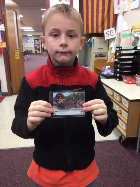 Noah B. with The Walking Dead Foil Card stamped out of 99  /99