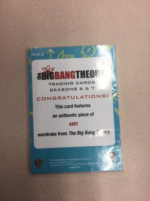 The Big Bang Theory Wardrobe card