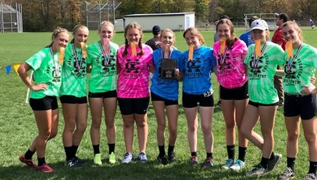 Cross Country girls, 2nd place @ Cuba, NY Invitational