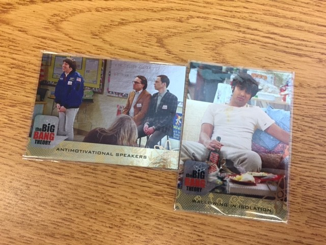 Aiden's Big Bang Theory Foil Insert Cards