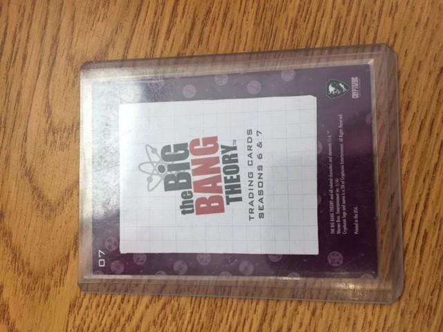 Aiden's Big Bang Theory Insert Card