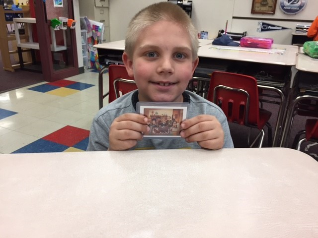 Aiden with The Big Bang Theory Foil card